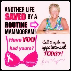 HAVE YOU HAD YOUR MAMMOGRAM?